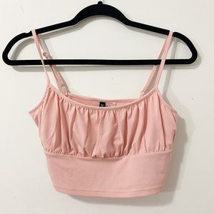 H&M Pink Cropped Camisole Top
